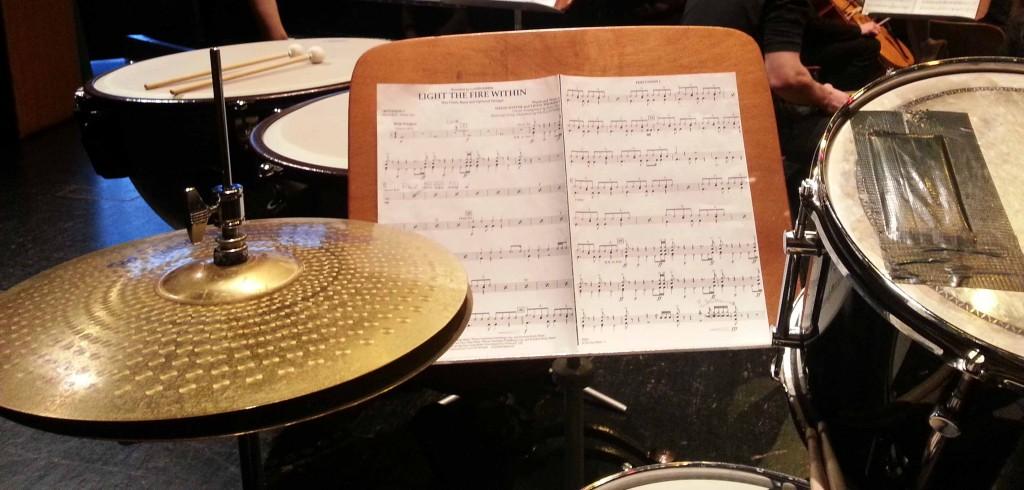 Schlagzeug und Pauke des Campus-A-Orchesters